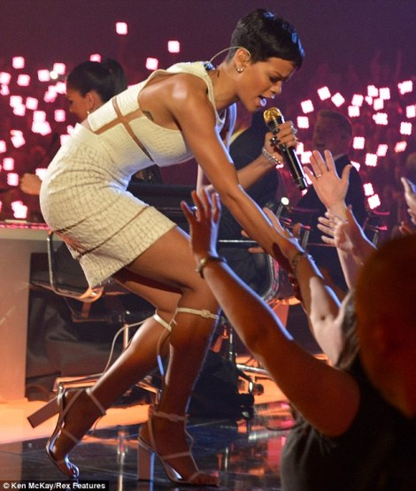 Rihanna in my Favourite short Black Pixie Cut in Alexander Wang