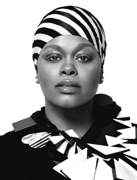 Beautiful Black & White Image of Jill Scott in her Head Wrap. Love it.