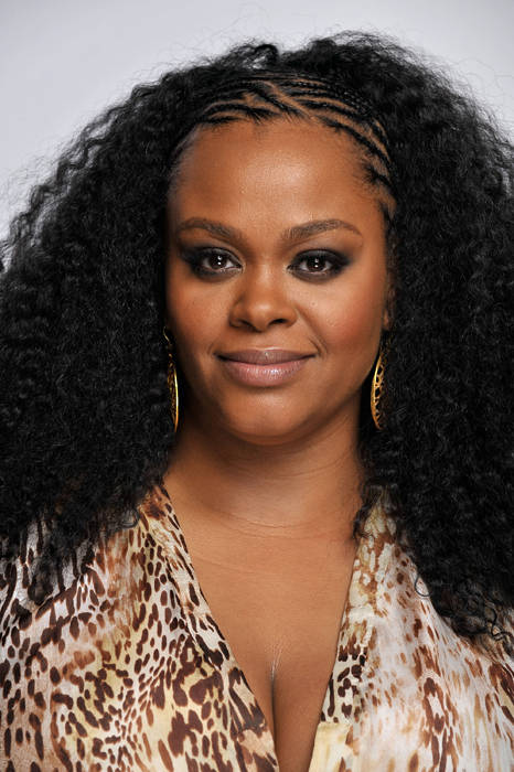 Jill Scott with her Braids and Afro-Hair Combo
