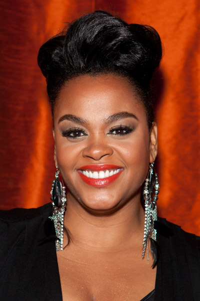 Jill Scott and the Edgey Up-do with her Favourite (& my favourite) Fiery Red Lips
