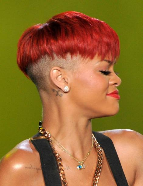 Rihanna is Very Rock-and-Roll in this shaven head look