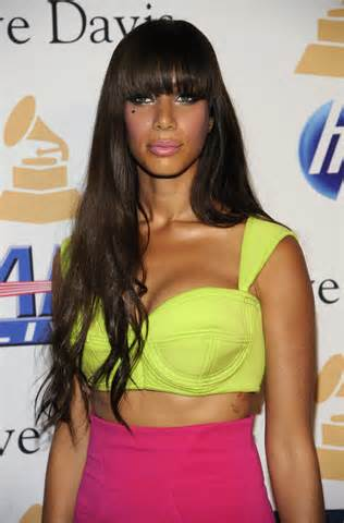 The lovely Leona Lewis with her Neon Ensemble